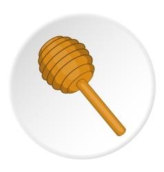 Honey dipper icon cartoon style vector image