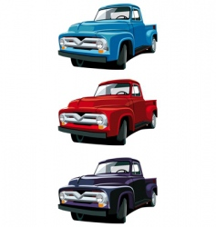 old-fashioned pickup vector image