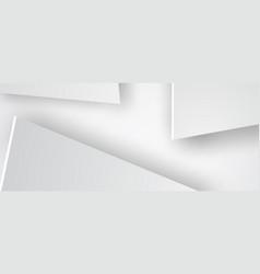 paper art of triangle white backgroundgrayblack vector image vector image
