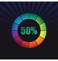 abstract coloured ring vector image vector image
