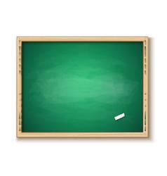 3d classroom chalkboard piece chalk vector image