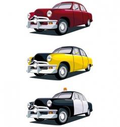 american vintage car vector image