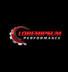 auto performance logo vector image