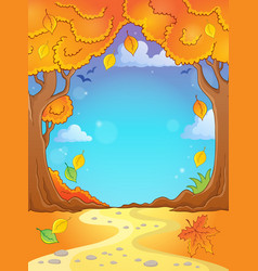 autumn tree theme composition 2 vector image