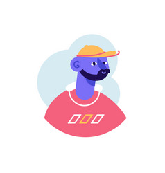 Avatar african american rapper style man vector