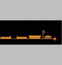 Bishkek light streak skyline vector