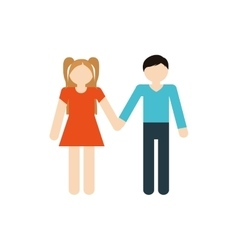 Brother and sister family together vector