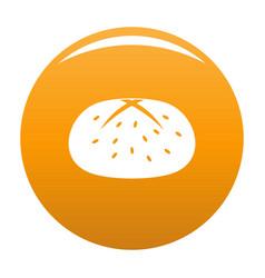 Bun icon orange vector