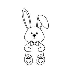 Bunny ribbon animal vector