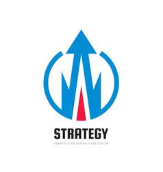 business economic strategy - concept logo template vector image