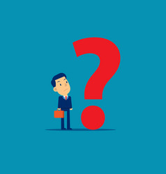 Businessman with question mark concept business vector
