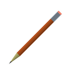 cartoon pencil icon schools supplies isolated vector image