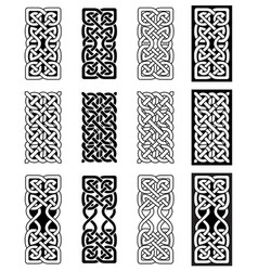 Celtic knot inspired by scottish irish carving vector