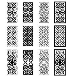 Celtic knot inspired scottish irish carving vector