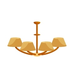 Chandelier icon in cartoon style vector