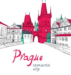Charles Bridge in Prague vector image
