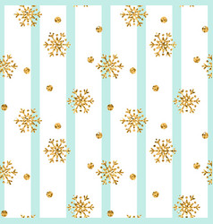 Christmas gold snowflake seamless pattern golden vector