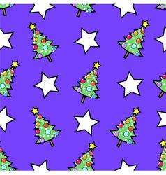 Christmas tree and stars vector