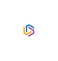 circle line geometry colorful logo vector image