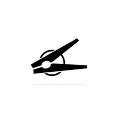 clothespin icon concept for design vector image