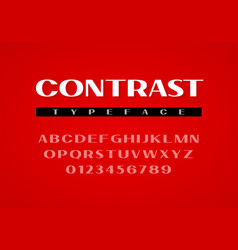 contrast sans serif typeface uppercase letters vector image