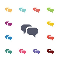 conversation flat icons set vector image
