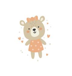 Cute a bagirl bear vector