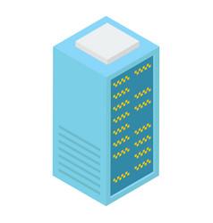 Data server rack vector