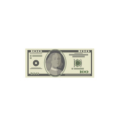 dollar paper banknote isolated isometric icon vector image