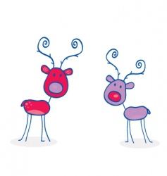 doodle Christmas vector image