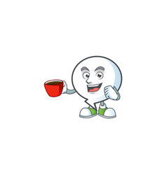 Drinking in cup pattern circle bubble vector