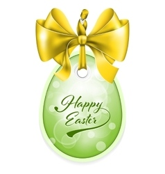 Easter tag vector image