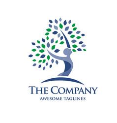 Elegant psychology and mental health logo vector