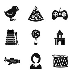 expensive toy icons set simple style vector image