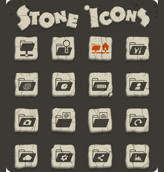 folders icon set vector image