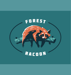 funny and cute raccoon vector image