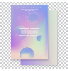 Furistic modern holographic cover set vector