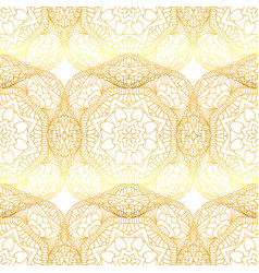 Gold abstract seamless patterns vector