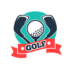 golf club or golfer country sport team icon vector image