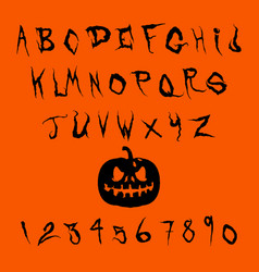 halloween splash alphabet eps10 vector image