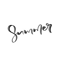 hand drawn lettered text summer calligraphic vector image