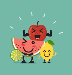 Healthy food emoji characters vector