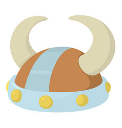 Horned helmet icon cartoon style vector