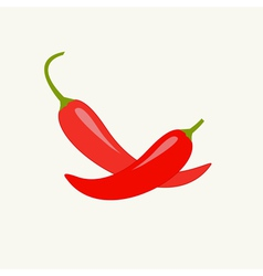 Hot Red Chili Jalapeno Pepper set Isolated vector image