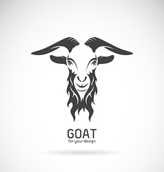 Image of a goat head design vector