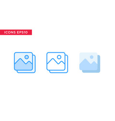 image picture icon in line outline filled outline vector image