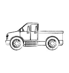 Isolated farm truck design vector