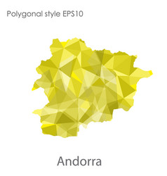 Isolated icon andorra map polygonal geometric vector