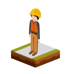 isometrics builder design vector image