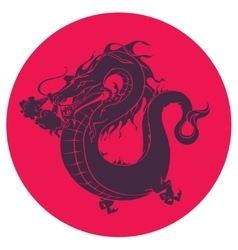 Japanece dragon vector image